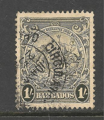 Barbados #200a (A21) VF USED - 1938 1sh Seal Of The Colony