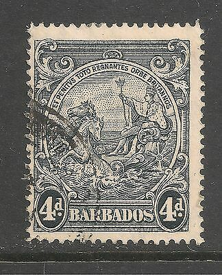 Barbados #198a (A21) FVF USED - 1938 4p Seal Of The Colony