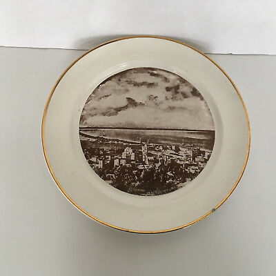 vintage Duluth Minnesota skyline drive at night  collectible plate  souvenir