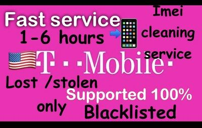 USA T-MOBILE BAD ESN IMEI CLEANING SERVICE-IPhone/Samsung model lost/stolen only