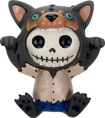 Furrybones Figurine - Wolfie The Wolf - New Skull Skeleton In Costume