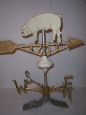 ..rare Vintage/antique Lightning Rod Weather Vane Right Off The Farm