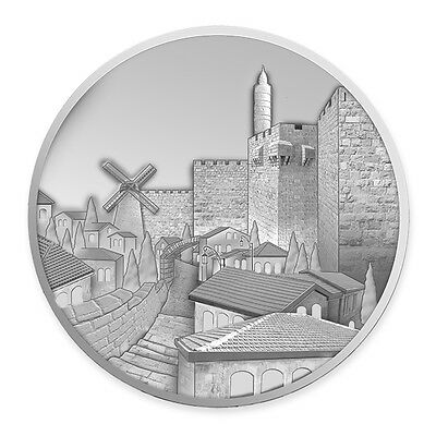 2016 Israel Mishkenot Sha'ananim .999 Silver commemorative medal coin 3600 made!
