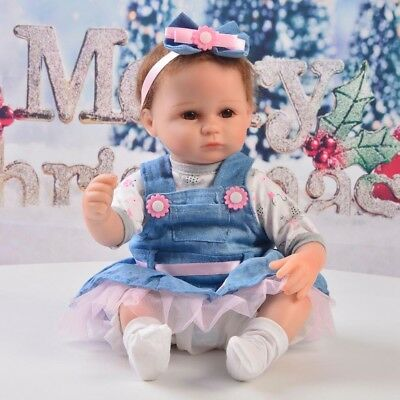 Doll Clothes Outfit Set for 16-17'' Reborn Dolls Clothes Accessory Blue