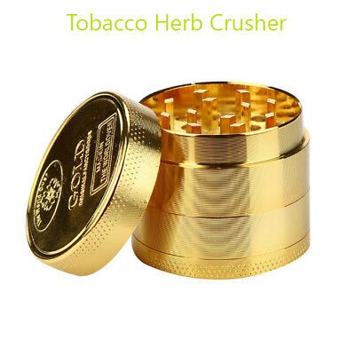 Tobacco Herb Spice Grinder Herbal Alloy Smoke Metal Chromium Crusher Gold Qualit
