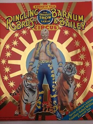Vintage 1989 Ringling Bros. Barnum Bailey Circus Program GUNTHER GEBLE WILLIAMS