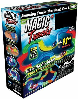 Magic Tracks The Amazing Racetrack that Can Bend, Flex & Glow