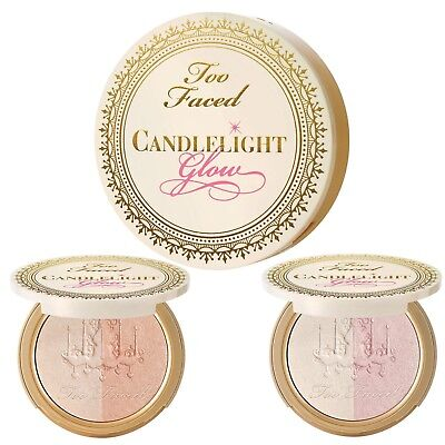 Too Faced Candlelight Glow Highlighting Duo Rosy Glow. 12g FULL Size. BNIB