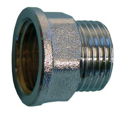 "Chrome 1/2"" BSP Male To Female Brass Tap Thread Extension Fitting"