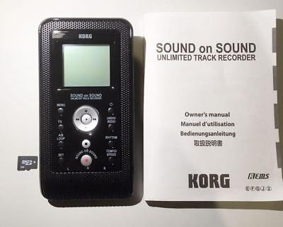 Used! KORG SR-1 Sound On Sound Unlimited Track Recorder Black