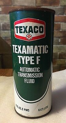 Vintage Texaco Texamatic Type F Transmission Fluid Unopened Pint Texaco Inc N.y