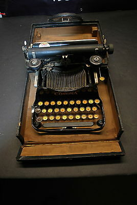 Corona Folding Typewriter Great for your Museum or Antique Office