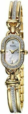 Bulova 98V21 Mother-of-Pearl Dial Crystal Accented Gold Tone Women's Watch