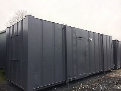 24 x 8ft Anti Vandal Site Office / Partitioned / Site Cabin / Portable Building