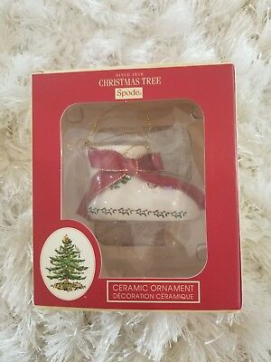 2011 Spode Baby's First Christmas ornament baby bootie NEW RARE