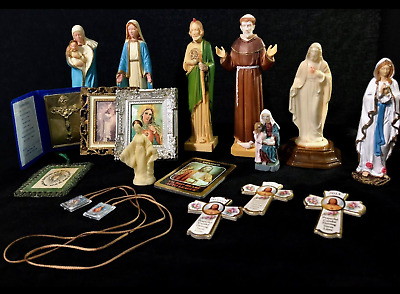 Antique Catholic Statues Photos Scapulars More Antique