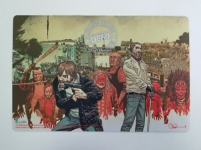 the walking dead 15th anniversary counter mat exclusive playmat mousepad