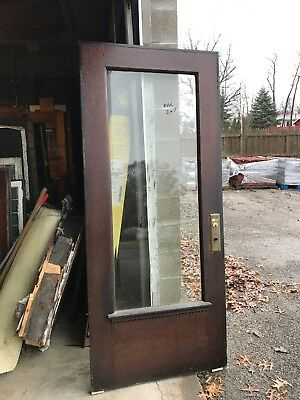 MAR 267 antique Fairview beveled glass oak entrance door 36x83.5