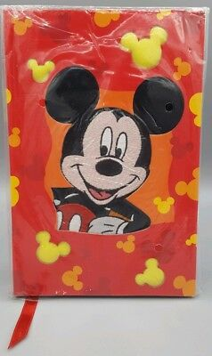 Disney Mickey Mouse Red Hardcover Notebook Journal