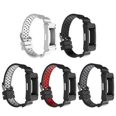 For Fitbit Charge 3 Watch Soft Silicone Watchband Case Sleeve Cover Protector