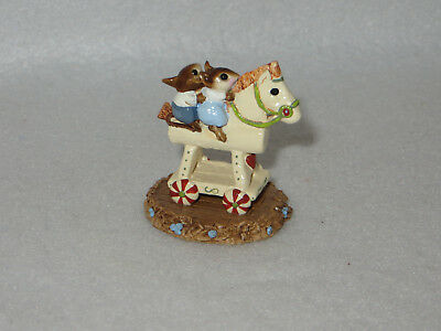 """""""mousey Express"""" Wee Forest Folk M-065 - Ivory - A Petersen"""