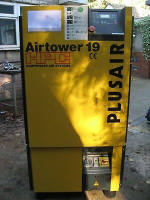 Hpc Air Tower 19 Screw Compressor And Dryer Low Hours  No Vat