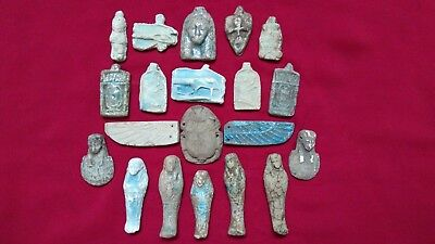 Ancient Egyptian Antiquities rare 20 Amulets ( 1816 BC)