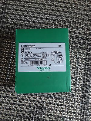 Schneider Electric LC1D25G7 Contactor 120V coil NEW SEALED BOX  MADE IN FRANCE