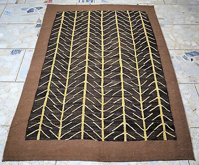 1950's Semi Antique AFGHAN 6'x9' Handknotted Kilim Rug 100%wool DS-85