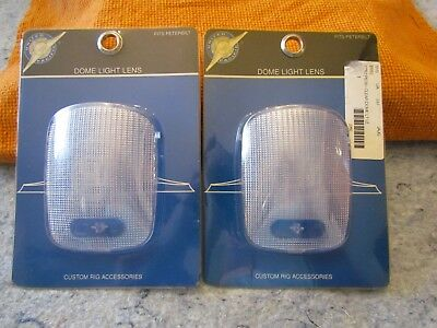 2 NEW United Pacific Clear Dome Light Lens for 2006+ Peterbuilt 37052