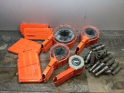 Nerf N Strike Drums Mixed lot of mags clips Etc