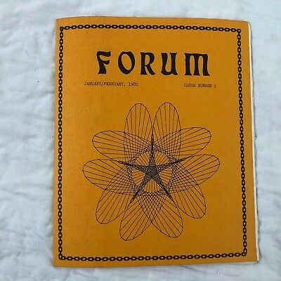 Star Trek TOS Forum #1 Fanzine Magazine Vtg Sci Fi Zine Listings Reviews 1980