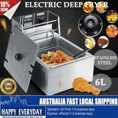 5 Star Chef Commercial Electric Deep Fryer Frying Basket Chip Cooker Fry AU