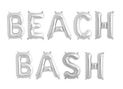 beach bash letter balloons 16 silver letter balloons luau party us ship
