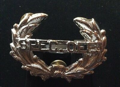 New Old Stock Vintage Special Officer Hat Badge Wreath Silver Spec Off Security