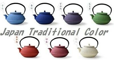 Nanbu-Tekki- ironware  kettle Cast-iron  Colorful 7color  red/Blue/green EMS JP