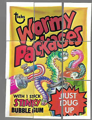 1973 Topps Wacky Packages Original 4th Series 4 Complete Puzzle Wormy Packages