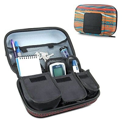 Diabetic Supplies Travel Case Organizer for Blood Glucose Monitoring Systems, Sy