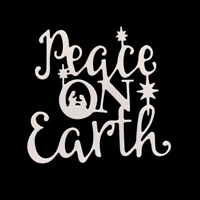 peace on earth letter Metal Cutting Dies For DIY Scrapbooking Card Paper Albu Kv