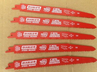 "5 Pack Diablo 9"" 8/10 Tpi Metal Demolition Blades"