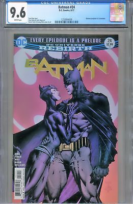 CGC 9.6 Batman #24 First Print DC Comics Rebirth Batman proposes to Catwoman