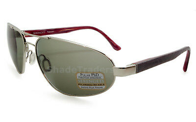 Serengeti Monza Sunglasses Shiny Silver Red Brown Laser Polarized Cpg Grey 7791