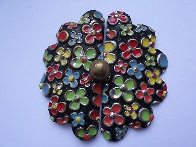 Vintage colourful circa Art Deco or later belt buckle