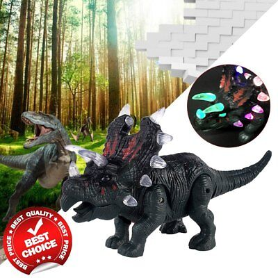 Electronic Walking Dinosaur Toy Sound Lights Dino Jurassic Wold Gift Kid Baby WR