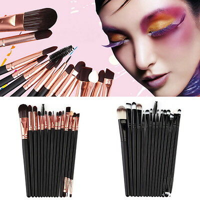 15Pcs/Set Make Up Brushes Kit Eyeshadow Eyeliner Mascara Eye Brush Tools NEW 2Y