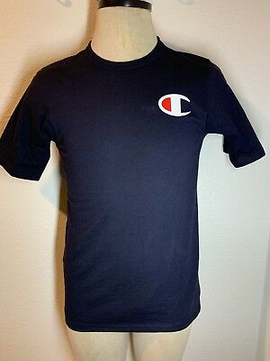 a4a54f42811e Authentic Champion Men Jersey Big C logo Short Sleeves T-Shirt Navy Blue  Pre Own