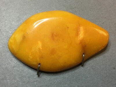 NATURAL OLD ANTIQUE YELLOW BUTTERSCOTCH BALTIC AMBER BROOCH 11,4 gr