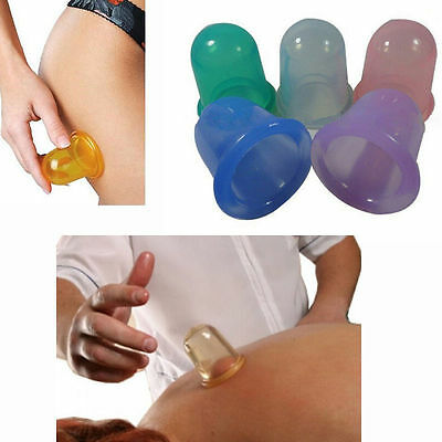 Useful Silicone Massage Cup Vacuum Body And Facial Set Anti Cellulite Cupping 2Y
