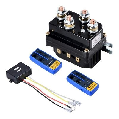 12V 500A Winch Solenoid Relay for 6000lb to 12000lb Winch w/ 2-pk Remote Control