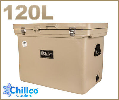 120L Chillco Ice Box Cooler Chilly Bin Superior Ice Retention - Rrp $500